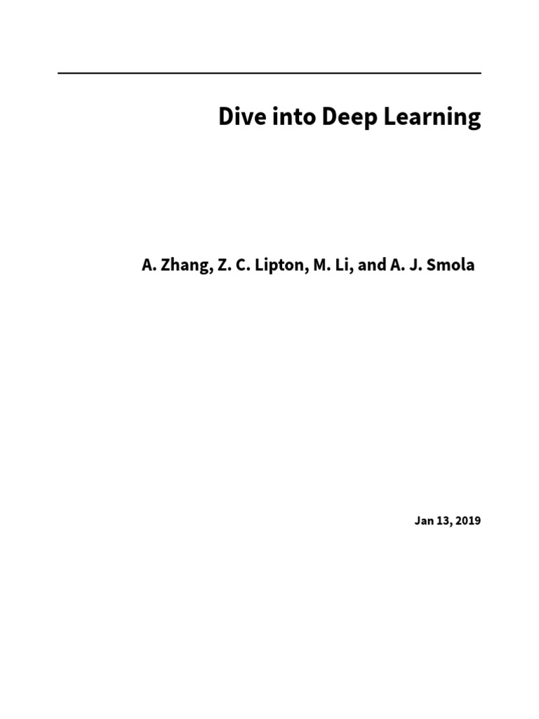 d2l555555555-en pdf | Machine Learning | Deep Learning
