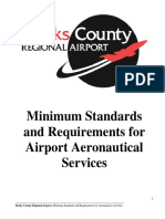 Minimum Standards and Requirements for Airport
