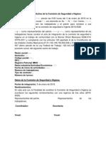 Acta Constitutiva de La Comisión de Seguridad e Higiene