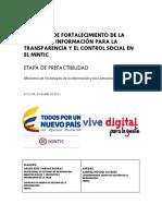 Proyecto de Inversión Archivo Ministerio de Tecnologías de la Información y las Comunicaciones (MINTIC) de Colombia 2016