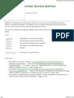 Napsu Karmitsa - Proximal Bundle Method