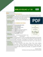 Boletim Biblio ESJAC, n.º 28, Jan. 2019