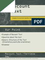 Recount Text Kelas X