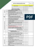 API 6 D Lista de Verificación Rev JM