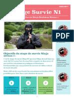 Stage Survie Ninja N1 N2 N3 Calendrier PDF