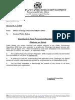 PPO Circular No 3 of 2013 Amendments to Public Procurement (Regulations 2008) (Challenge and Appeal)