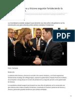 07-01-2019 Con alianza Sonora y Arizona seguirán fortaleciendo la Megarregión CPA - El Sol de Hermosillo