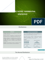 Course Notes Inferential Statistics