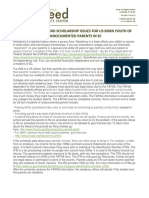 FASFA for US Citizens Born to Undocumented Parents Brochure