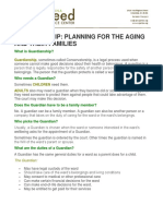Guardianship Planning Brochure
