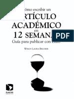212468167 Como Escribir Un Articulo Academico en 12 Semanas