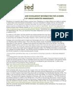 Residency, Scholarships, Undocumented Parents Brochure