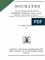 ISOCRATES. Isocrates in Three Volumes, Vol. II. Translated by George Norlin. London, William Heinemann Ltd., 1929