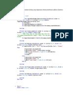 Berikut Adalah Keseluruhan Koding Yang Digunakan Dalam Pembuatan Aplikasi Database Persamaan Kuadrat
