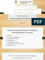 6 Processos Op Beneficiamento de Cereais Prof Karuane 2018