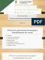 6 Processos Op Beneficiamento de Cereais Prof Karuane 2018