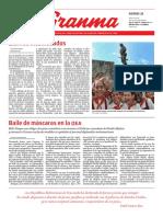 Diario Granma 25 de enero de 2019
