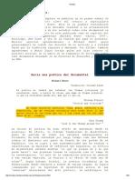 MichaelRenov - Hacia Una Poética Del Documental en Revista Cine Documental No.1 Original1
