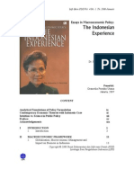 Essays in Macro Economic Policy the Indonesian Experience