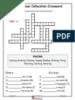 Action Noun Collocation Crossword