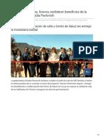 21-01-2019 Familias de Yécora Sonora recibieron beneficios de la gobernadora Claudia Pavlovich - TV Pacífico