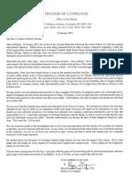 Covington Bishop Roger Foys's letter to CovCath parents