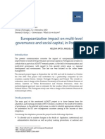 Europeanization impact on multi-level governance and social capital, in Portugal