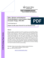 Elites, Thickets and Institutions- French Resistance Versus German Adaptation to Economic Change, 1945-2015