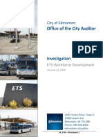 City of Edmonton ETS investigation