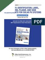 fotovoltaica de acuerdo a NEC