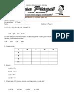 Examen Mensual de Álgebra 6