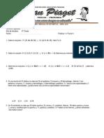Examen Mensual de Aritmética 6
