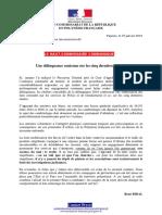 25-01-2019 Le HC Communique - Une Délinquance Contenue Sur Les Cinq Dernières Années (2)