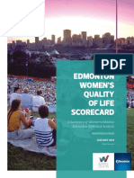 Edmonton Women's Quality of Life Scorecard Jan. 2019
