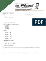 Examen Mensual de Álgebra 5