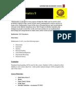 math 9 course outline
