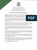 Mensaje del presidente Danilo Medina con motivo del 206 aniversario del natalicio del patricio Juan Pablo Duarte