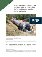 Biodigestores Una Alternativa Familiar Para El Uso de Energías Limpias en Los Hogares y La Protección de Los Bosques Naturales de La Provincia de Santa Cruz
