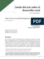 Estado Del Arte Sobre El Desarrollo Rural en Colombia
