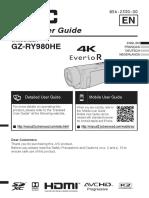 Quad Proof 4K Memory Camcorder GZ-RY980H