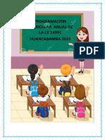Programacion Anual Inicial 2019 La Perla