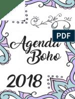 Agenda Boho 2018