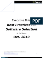 Best Practices for Software Selection