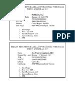 Berkas Pencairan Bantuan Operasional Personalia