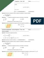 Evaluación de Matemática -Segundo Año - Regulares 2013
