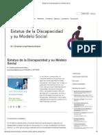 Estatus de La Discapacidad y Su Modelo Social