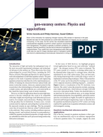 Nitrogen-Vacancy Centers- Physics and Applications
