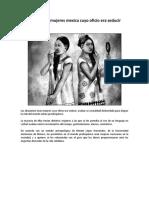 Ahuianime; Mujeres Mexica Cuyo Oficio Era Seducir
