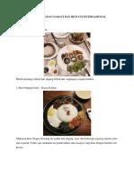 Bahan Makanan Nabati Dan Hewani Internasional