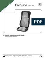 Manual Beurer Husa de Scaun Pentru Masaj Shiatsu Mg300
